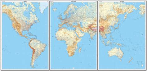 carte du monde murale plastifiee i g n carte murale le monde plastifi 233 en 3 feuilles
