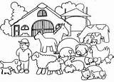Coloring Farm Pages Animals Farmer Cartoon Colouring Animal Sheets Farms Bestcoloringpagesforkids Printable Print sketch template