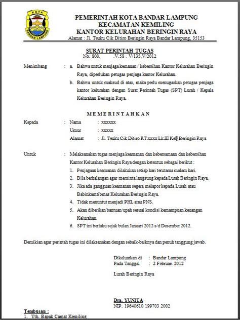 Contoh Surat Perintah Kerja by Alifa S Makalah Surat Menyurat Dan Curriculum Vitae