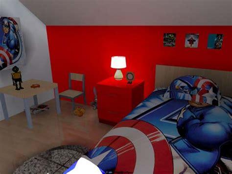 chambre marvel 3d chambre enfant 39 les héros 39
