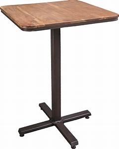 Table Haute Bois Metal : table bistrot haute en m tal et bois ~ Teatrodelosmanantiales.com Idées de Décoration