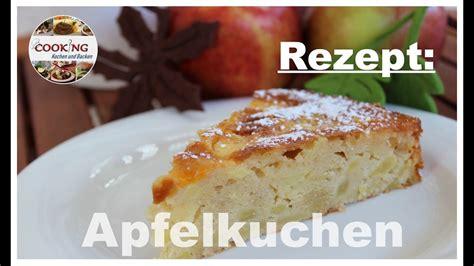 Saftiger Apfelkuchen Mit Zitronenguss Einfach Und Schnell Backen