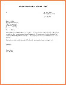 free sle follow up letters after sending resume 5 exle of follow up letter bussines 2017