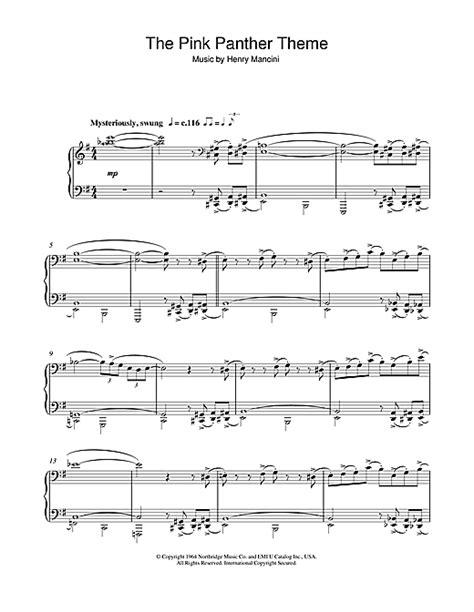 Henry Mancini Sheet Music Pink Panther Tenor Saxophone