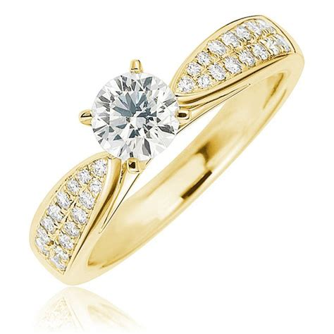 solitaire yellow gold engagement rings yellow gold engagement rings