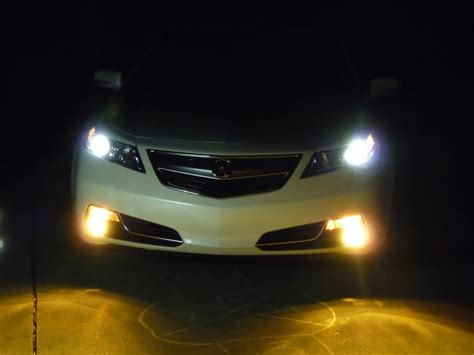 Acura Lights by White Tl With Yellow Fog Lights Acurazine Acura