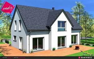 maison a etage entree a demi niveau de maisons creativ camille With maison demi niveau plan 8 plan de maison romaine