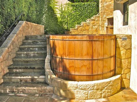 redwood soaking tub 55 best custom built wooden tubs images on