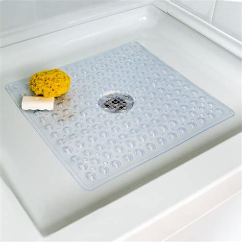 deluxe square shower mat  clear