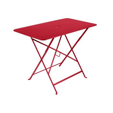 table de pliante table de jardin rectangulaire pliante acier laqu 233 bistro