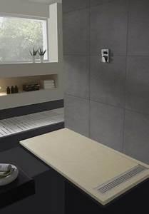 receveur de douche avec caniveau wikiliafr With salle de bain design avec receveur extra plat 140x90