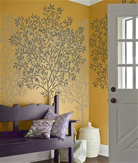 Wall Stencil  Olive Tree  Reusable  Diy Home Decor