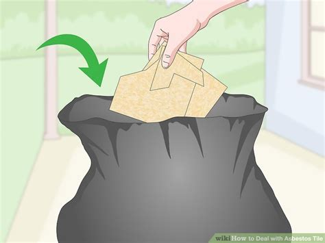 ways  deal  asbestos tile wikihow