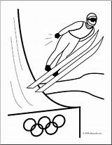 Ski Coloring Winter Jumping Olympics Jump Clip Clipart Skiing Preview Abcteach Snow Clipground sketch template