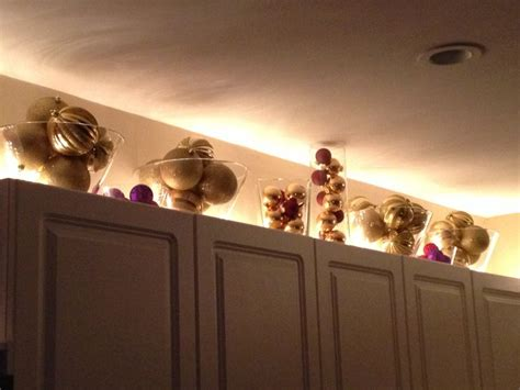 cabinet xmas decorations christmas kitchen diy