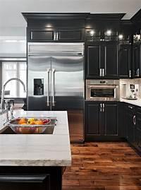 black cabinets in kitchen 25+ best ideas about Black Kitchens on Pinterest | Modern kitchen design, Beauty elegant and ...