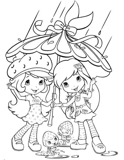strawberry shortcake coloring page stamp