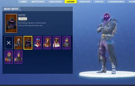 completed fortnite account raven skin skier bp tier