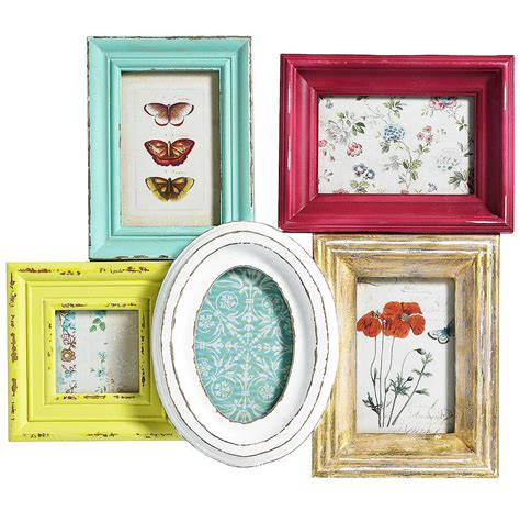 shabby chic multi frame multi picture frame by bell blue notonthehighstreet com