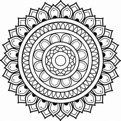 Mandala Coloring Pages Mandalas Printable Adult Simple