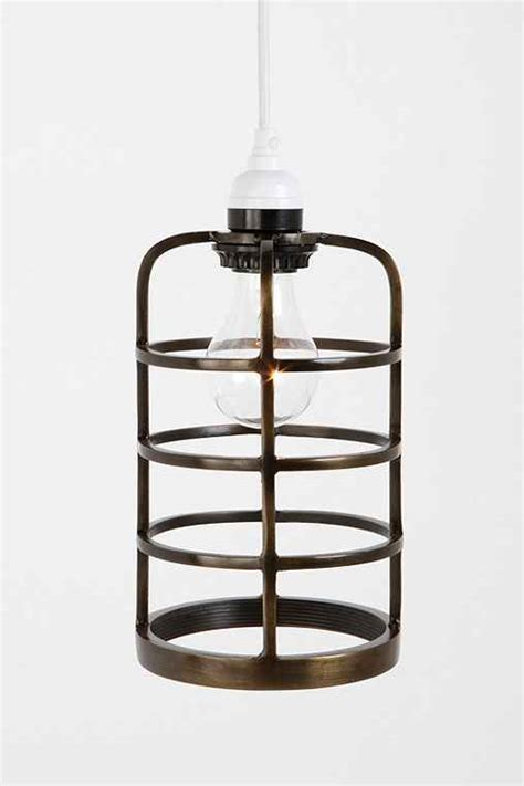 industrial metal cage pendant shade outfitters