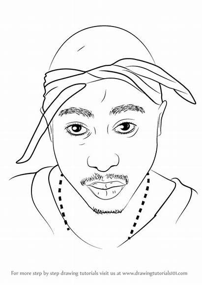 2pac Draw Step Drawing Tupac Rappers Drawings