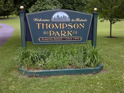 historic thompson park watertown ny olmsted designed