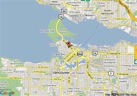 Map Of Blue Horizonel Vancouver
