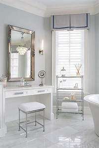 Built in makeup table with venetian beaded mirror for Makeup chair for bathroom