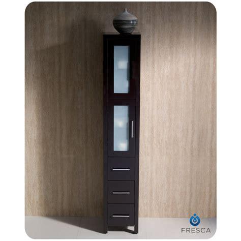 bathroom linen side cabinet fresca torino espresso tall bathroom linen side cabinet