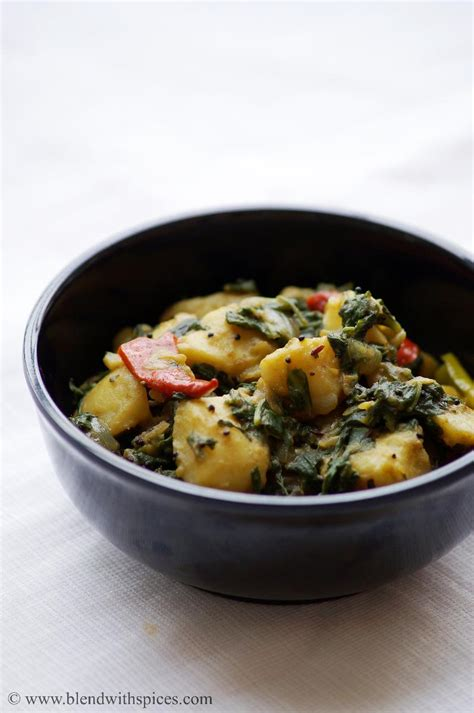 saag aloo recipe    saag aloo recipe indian