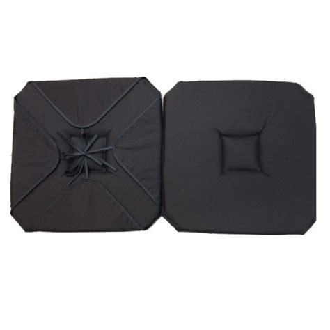 coussin de chaise gris coussin de chaise 4 rabats uni gris anthracite