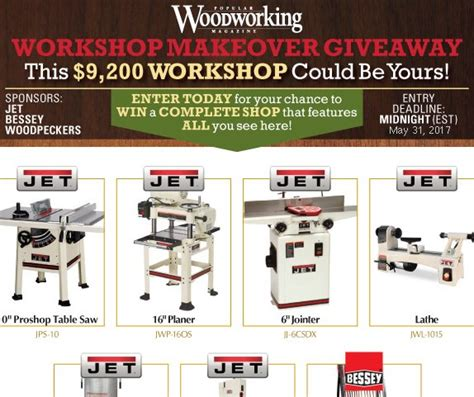 popular woodworking  workshop makeover sweepstakes