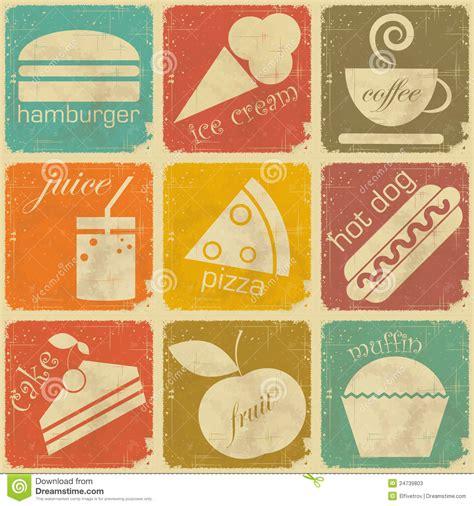 cuisines vintage set of vintage food labels stock vector illustration of