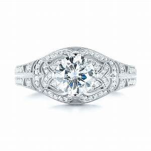 vintage inspired diamond engagement ring 103511 With vintage inspired wedding ring