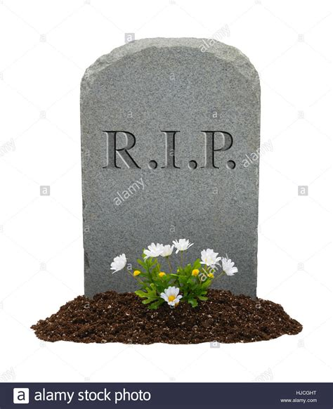 Rip Background Rip Gravestone Isolated On White Background Stock Photo