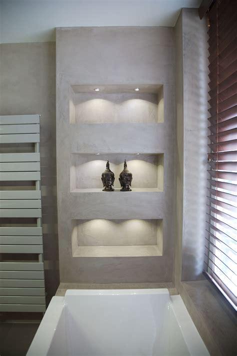 Badezimmer Regal Design by Betonoptik Und Gemauertes Regal Haus In 2019