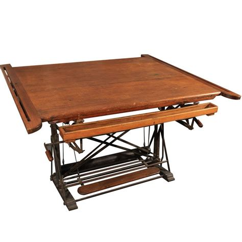 french drafting table table desk vintage table
