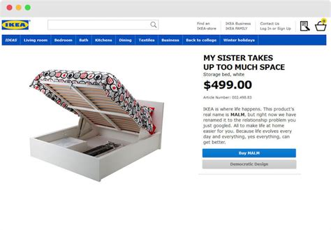 retail therapy has ikea renaming its products after