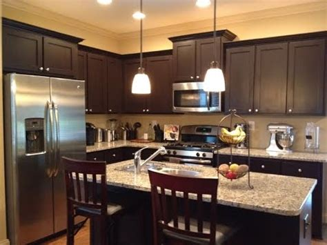 espresso cabinets   color granite youtube