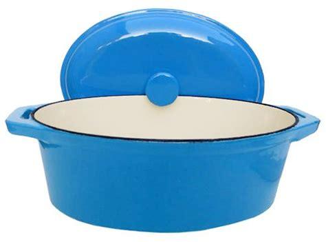 france blue oval dutch oven  qt  fancy cook  buy