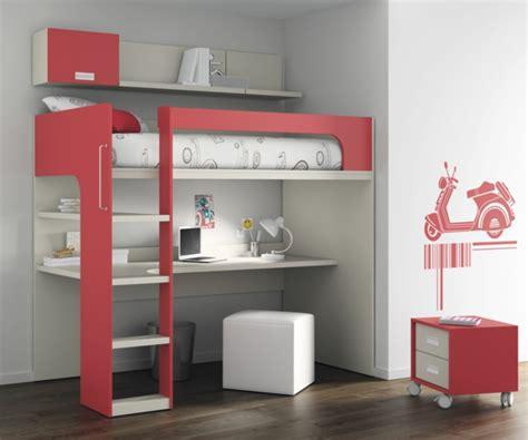 lit à étage avec bureau le lit mezzanine avec bureau est l 39 ameublement créatif