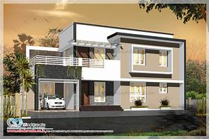 Contemporary Style House Elevation Kerala Model Home Plans