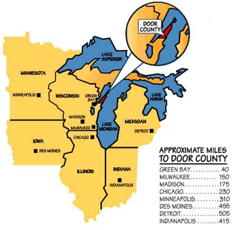 door county map my midwest visit door county