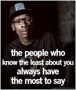 Wiz Khalifa Quotes About Being Yourself. QuotesGram