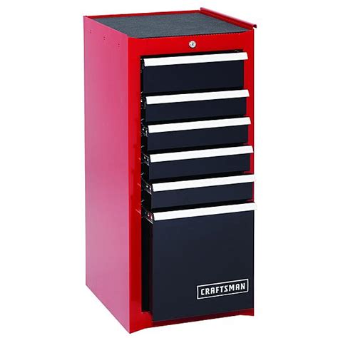 Tool Chest Side Cabinet by Craftsman 114259 6 Drawer Heavy Duty Bearing Side