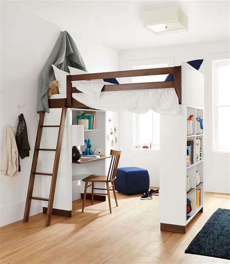 kids loft bed and desk moda modern wood kids loft moda loft beds with desk and