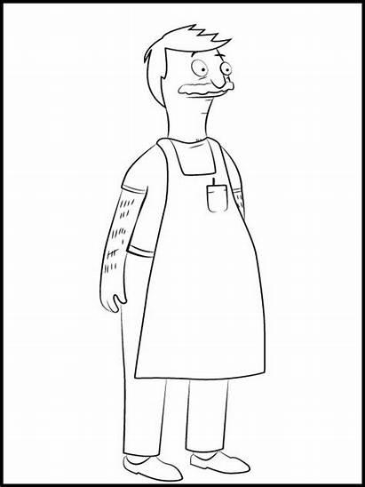 Coloring Burgers Bob Bobs Pages Simpsons Burger