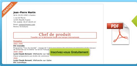 Comment Faire Un Cv En 2016 by Comment Faire Un Cv Gratuit Exemple De Cv Word 2016 Jaoloron