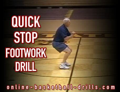 quick stop footwork drill  basketball